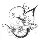 Plumeria Flowers Custom Tattoo