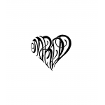 Kids Initials In Heart Custom Tattoo