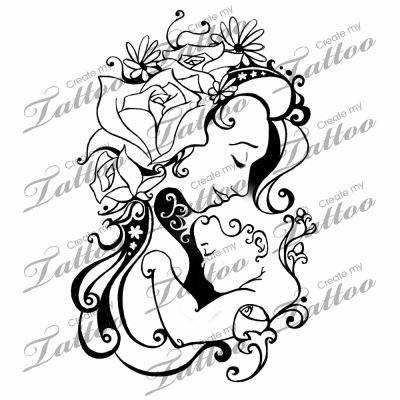 On Other Hip Blooming Of The Mother And Child Createmytattoocom